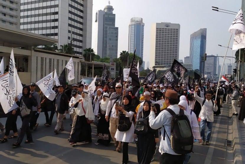 Aksi Mujahid 212 Berlangsung Tertib