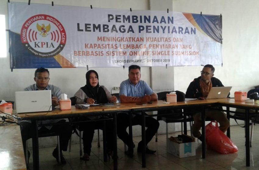 KPI Gelar Pembinaan 8 Lembaga Radio di Lhokseumawe