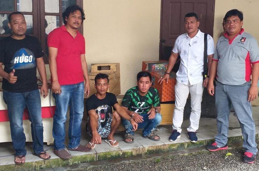 Polres Aceh Tenggara Tangkap 2 Tersangka dan 8 Mesin Jekpot