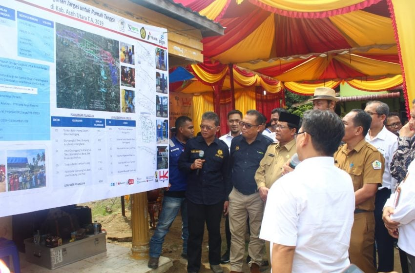 4.557 Dipasang Jaringan Gas Rumah Tangga di Aceh Utara