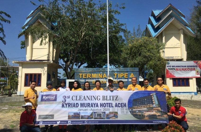 Hotel Kyriad Muraya Aceh Gelar Aksi Bersih-bersih Toilet Umum