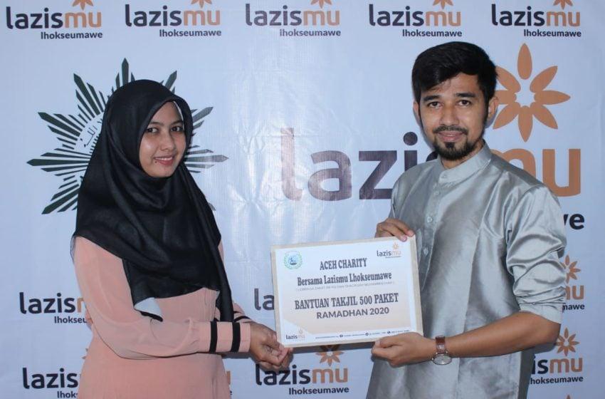 Peduli Masyarakat Kurang Mampu, Aceh Charity Salurkan 1000 Euro Paket Takjil Melalui Lazismu