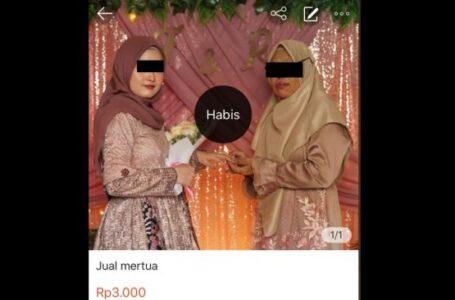 Mertua Di Jual Lewat Online Shop, Seharga Rp 3 Ribu