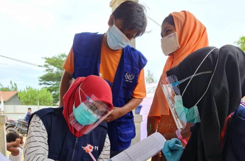 IOM dan PMI Lhokseumawe Cek Kesehatan Imigran Rohingya