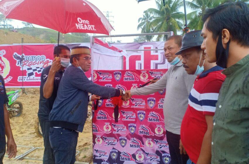 Wali Kota Lhokseumawe Resmikan Sirkuit Permanen Motocross Grastrack Paloh