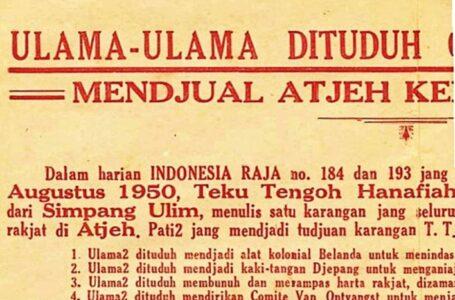 Laki-laki yang Mengatai Ulama Aceh Pencuri dan Pembunuh